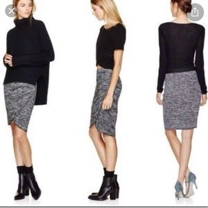 Wilfred Free Black & Grey Skirt, Size Small